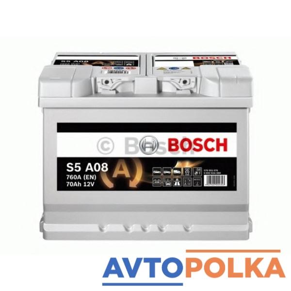 Аккумуляторная батарея BOSCH 0092S5A080 S5 AGM 12V 70AH 760A